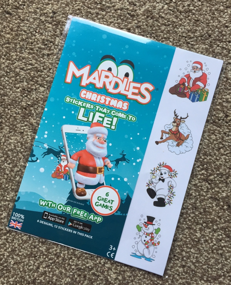 Mardles Christmas Sticker pack giveaway