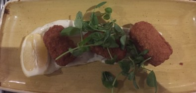 Smoked Haddock chive and cheese croquettas