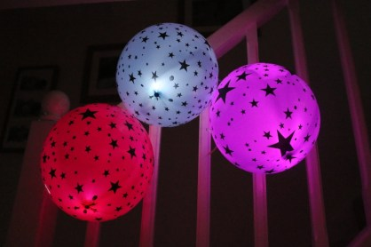 Celebrating seven years of blogging with illooms LED latex balloons