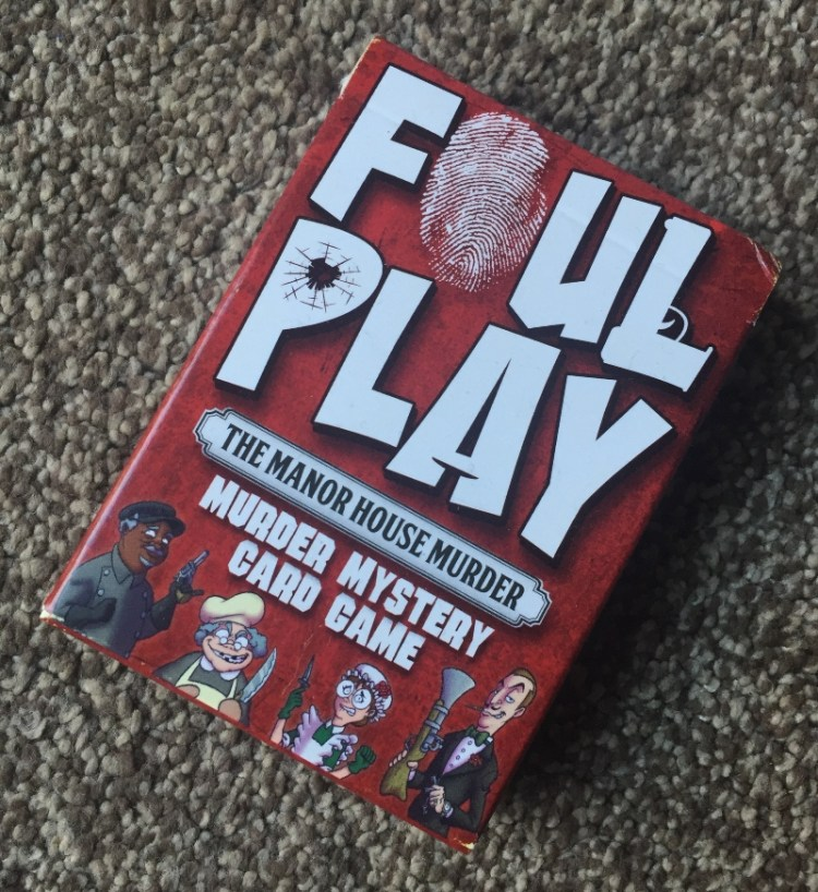 Having fun with the Foul Play card game