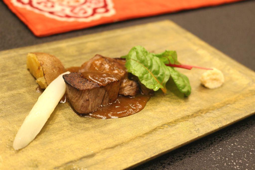 小樽 宏楽園 夕食 ステーキ
