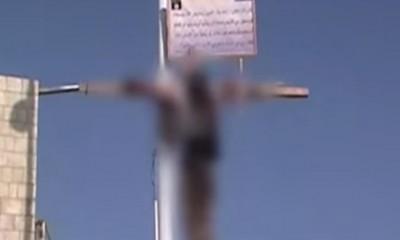 Homem crucificado na Arábia Saudita