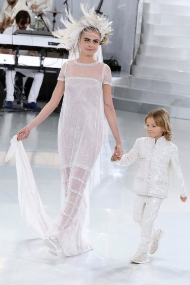 Cara Delevingne and Hudson Kroenig at Chanel Haute Couture, spring 2014