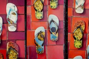 巴西當代藝術家與havaianas攜手做愛心,帶出濃厚的在地風情