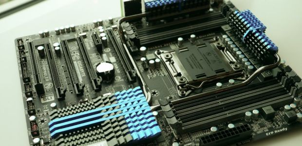 During our visit we could get our hands-on GIGABYTE's latest technologies especially for motherboards. What impressed us the most among the regular new things, is a prototype motherboard that  has something particular....