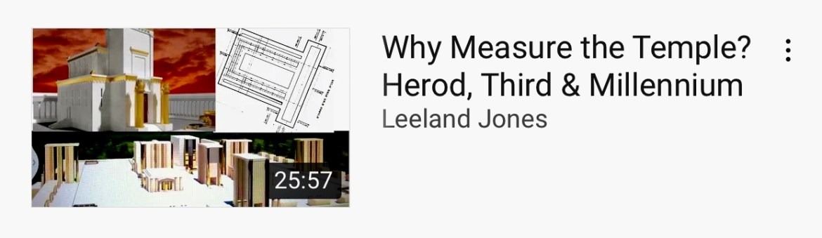 Why Measure the Temple? Herod, Third & Millennium