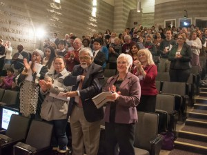 Image of audience at Overcoming Racism conference