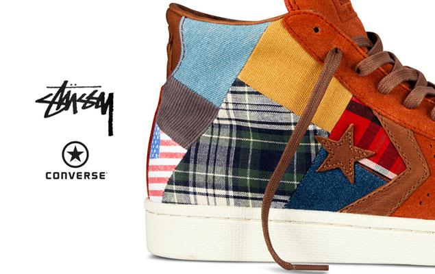Stussy NYC x Converse 聯名限定版本First String Pro Leather 鞋款 ... d8104d4f12