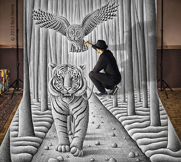 Ben Heine Art - Pencil Vs Camera 74 - Sketch in Progress