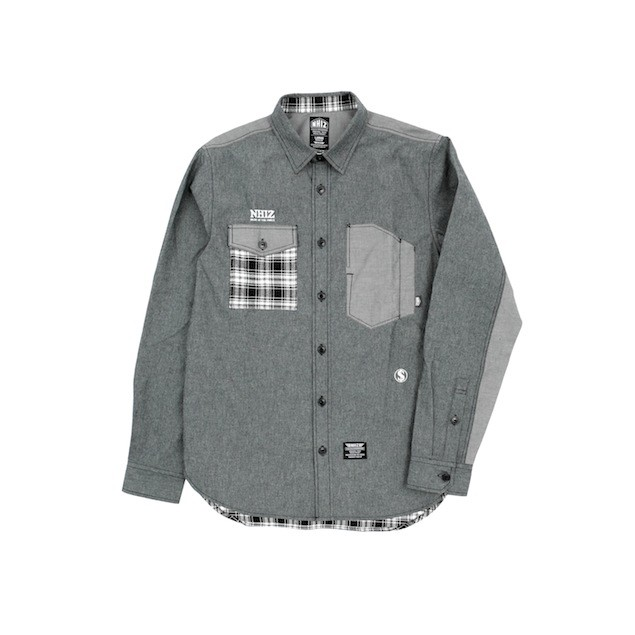 NHIZ CHAMB PATCH SHIRT $899