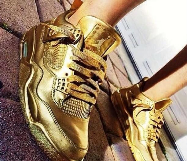 air jordan 4 gold-1