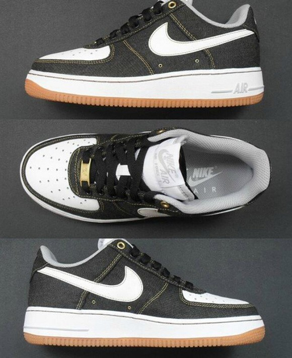 nike air force 1 black denim-1