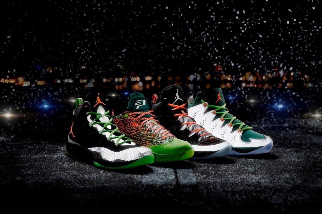 Jordan Brand 鞋身反光材質,搭配鞋底班點象徵聖誕節的雪花,更增添冬季的繽紛感受