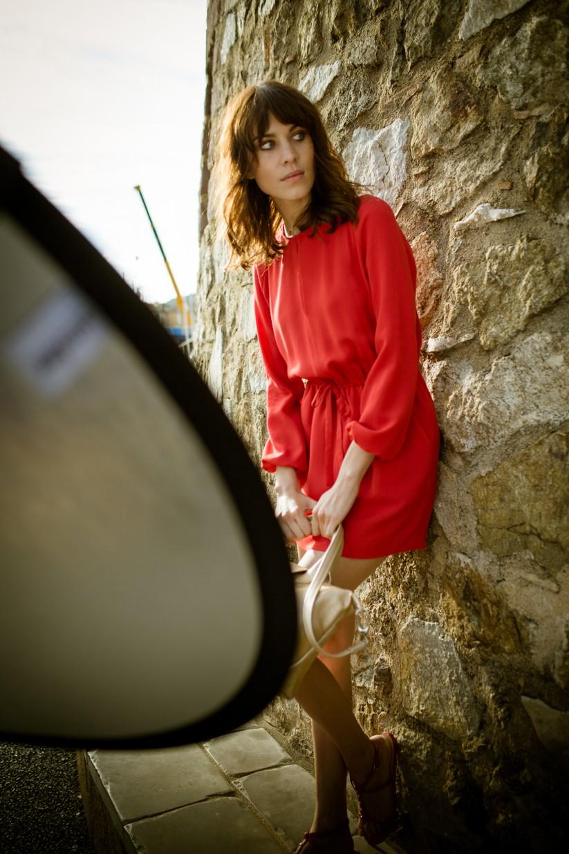 Longchamp 2014春夏廣告新面孔- 艾里珊鍾Alexa Chung_拍攝花絮 1