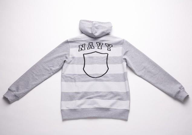 MR.SAY NAVY Stripe Zip Hood-2-01_