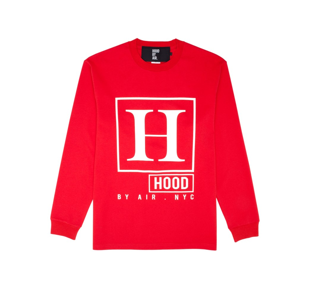 Yohood x HBA _H_ L_S Red Tee (Front)