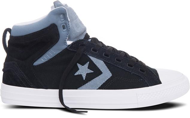 《圖二》CONS Star Player Plus系列鞋款以全新的運動風格向經典設計致敬,選用帆布及磨砂革拼接材質