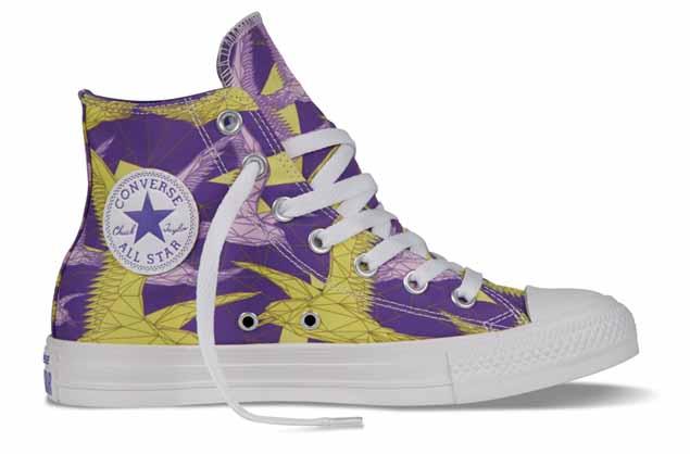 Chuck Taylor All Star 2014春季特别系列 幻彩幾何女生鞋款_丁香紫