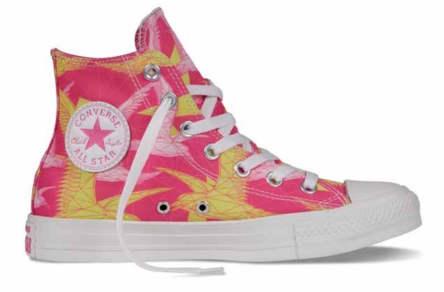 Chuck Taylor All Star 2014春季特别系列 幻彩幾何女生鞋款_玫紅
