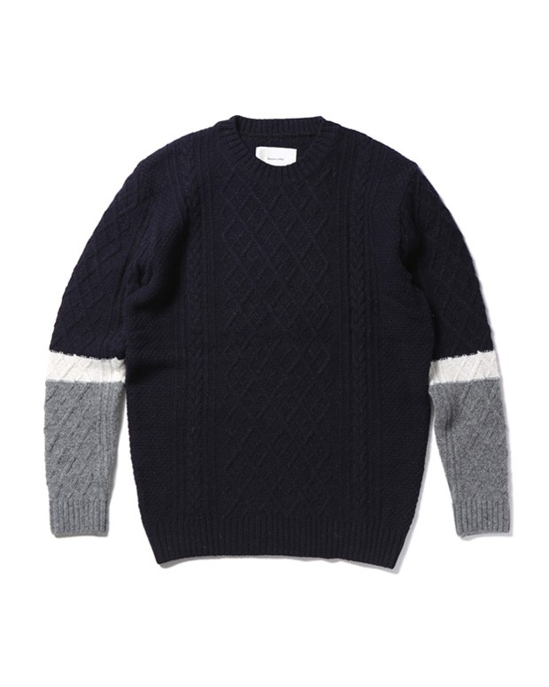 CABLE KNIT navy1