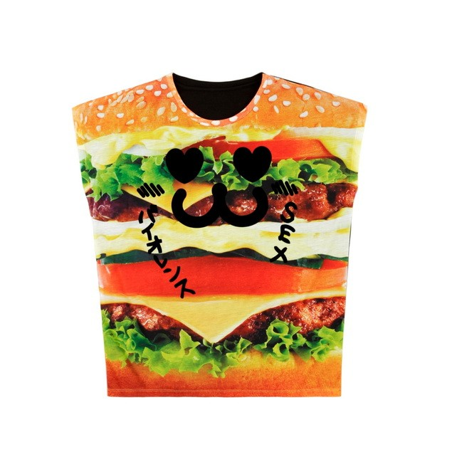 HYOMA SP14 Big Burger Print Tee $529