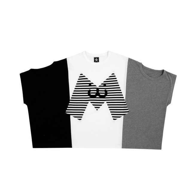 HYOMA SP14 Big M Patch color blocking Tee  $559