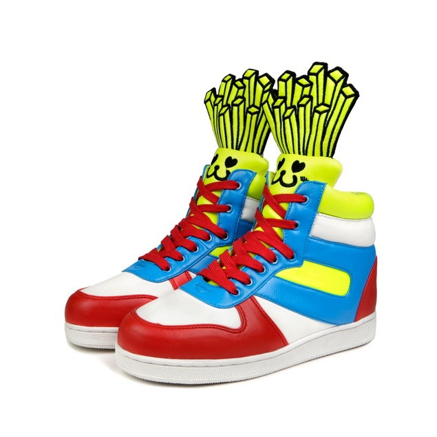 HYOMA SP14 Fries Sky Blue  x Red x Yellow Trainer Shoes $1099