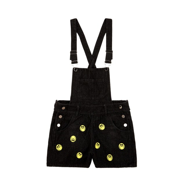 HYOMA SP14 Hyoma Embroidery Denim Overall Black Jumpsuit $959