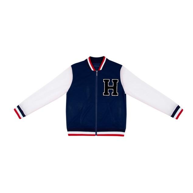 HYOMA SP14 Varsity Navy Blue Jacket with Badge $899 (Front)
