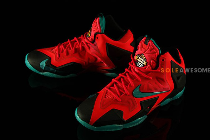 nike lebron 11 gs solar red-0