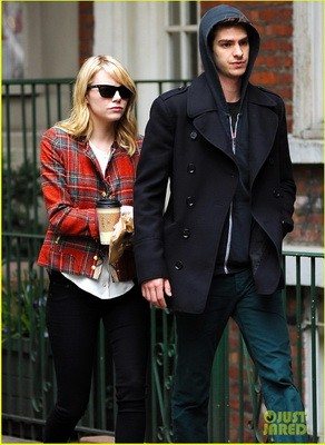 Emma Stone and Andrew Garfield in West Village