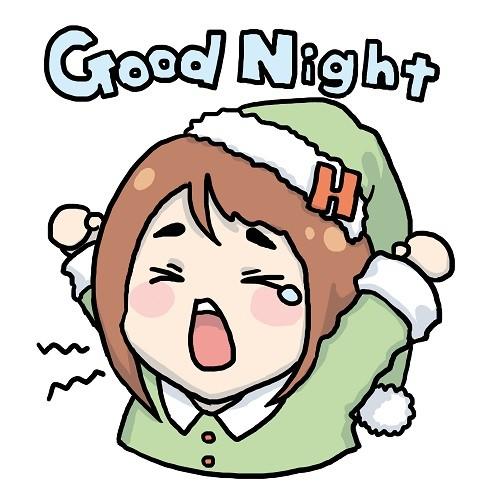 「爽健美茶X Hebe田馥甄」LINE貼圖_Good Night