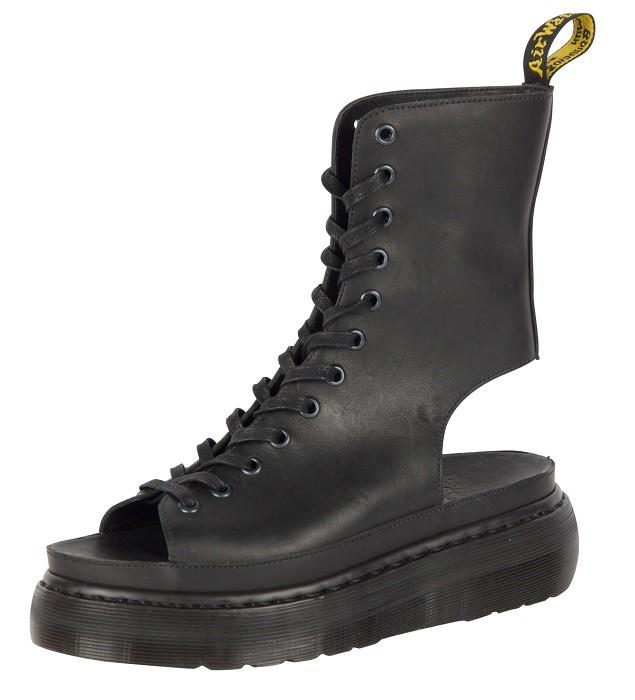 SHORE BERNADETTE 12孔露趾靴 推出黑色與櫻桃紅Cartegena 皮革款 建議售價$6,280