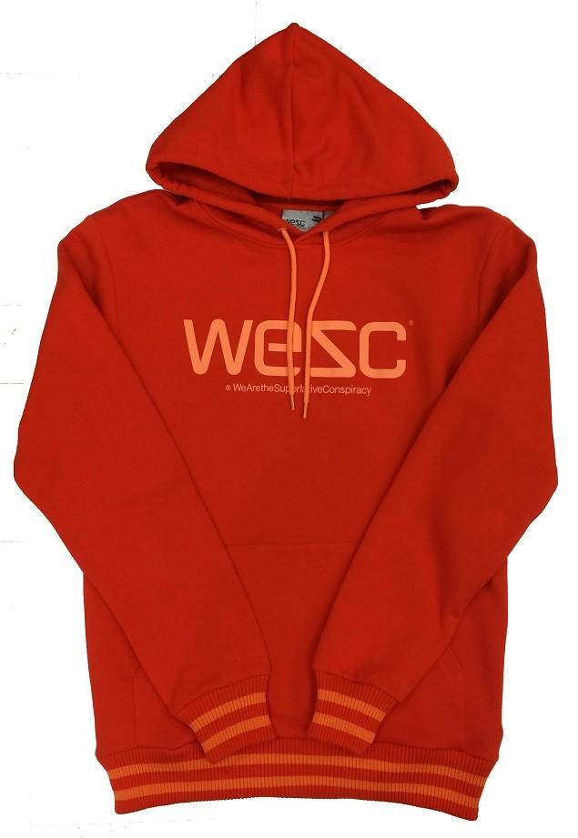 WeSC 橘底Logo 帽T NT$2,880