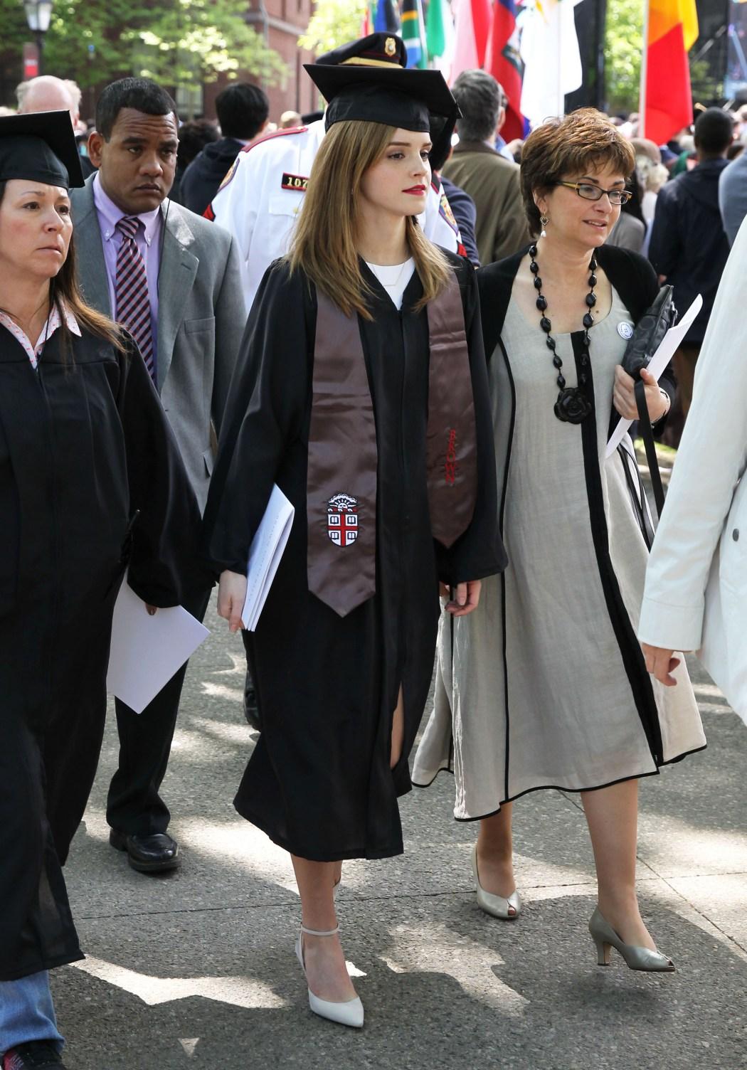 Semi-Exclusive... Emma Watson Graduates From Brown University!