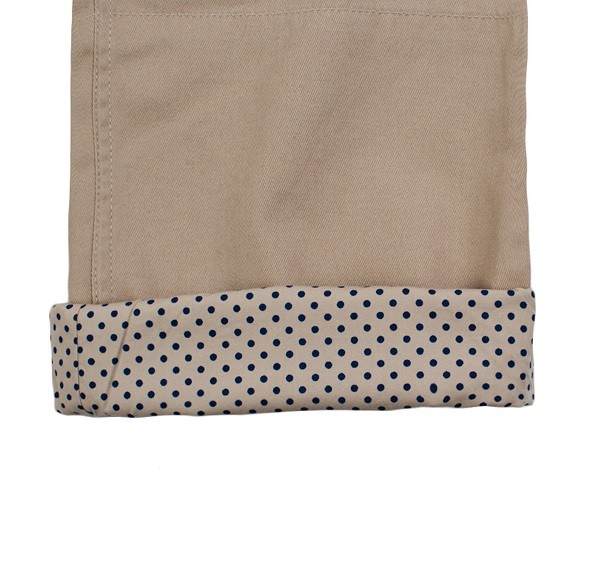 Polka Dots Roll Up Pants_(Beige3)