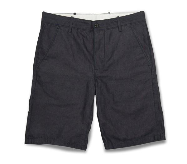 深藍色輕薄類丹寧短褲
