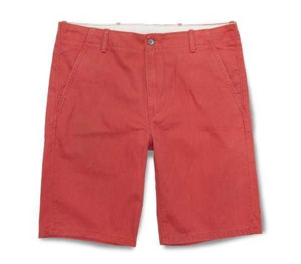 多彩系列紅色休閒短褲