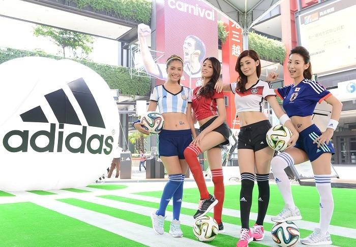 世界盃官方合作夥伴adidas於開賽首日,盛大揭幕「adidas巴西世足嘉年華」,將全台最具指標性的信義香堤廣場化身巨型足球場