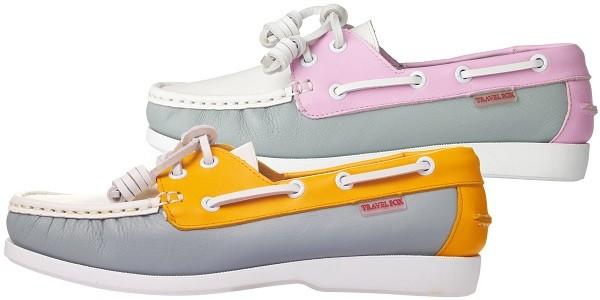 TRAVEL FOX 四大精神之STYLE風格-帆船鞋款(黃灰)_原價$3,000元 (男&女);(粉紅灰)_原價$3,000元 (女)
