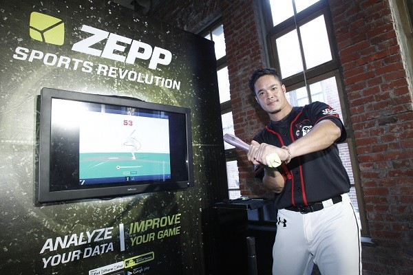Lamigo桃猿隊選手「大師兄」林智勝,笑說Zepp棒球感測器是他私人教練