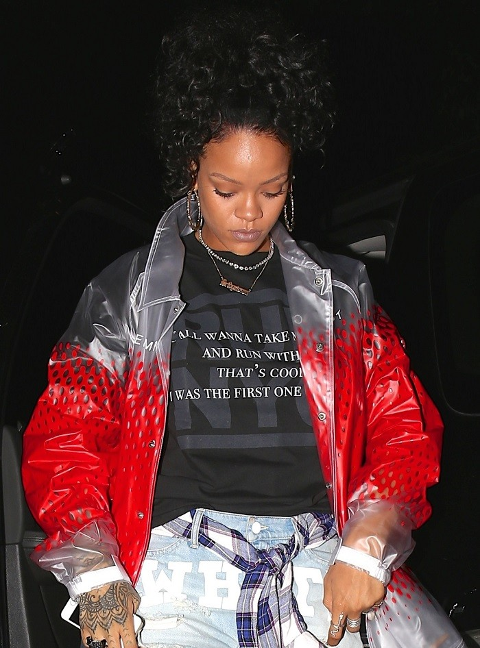 EXCLUSIVE: Singer Rihanna on her way to the studio to finish her new album in West Hollywood
