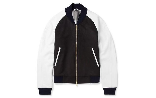 thom-browne-leather-sleeved-cashmere-bomber-jacket-1