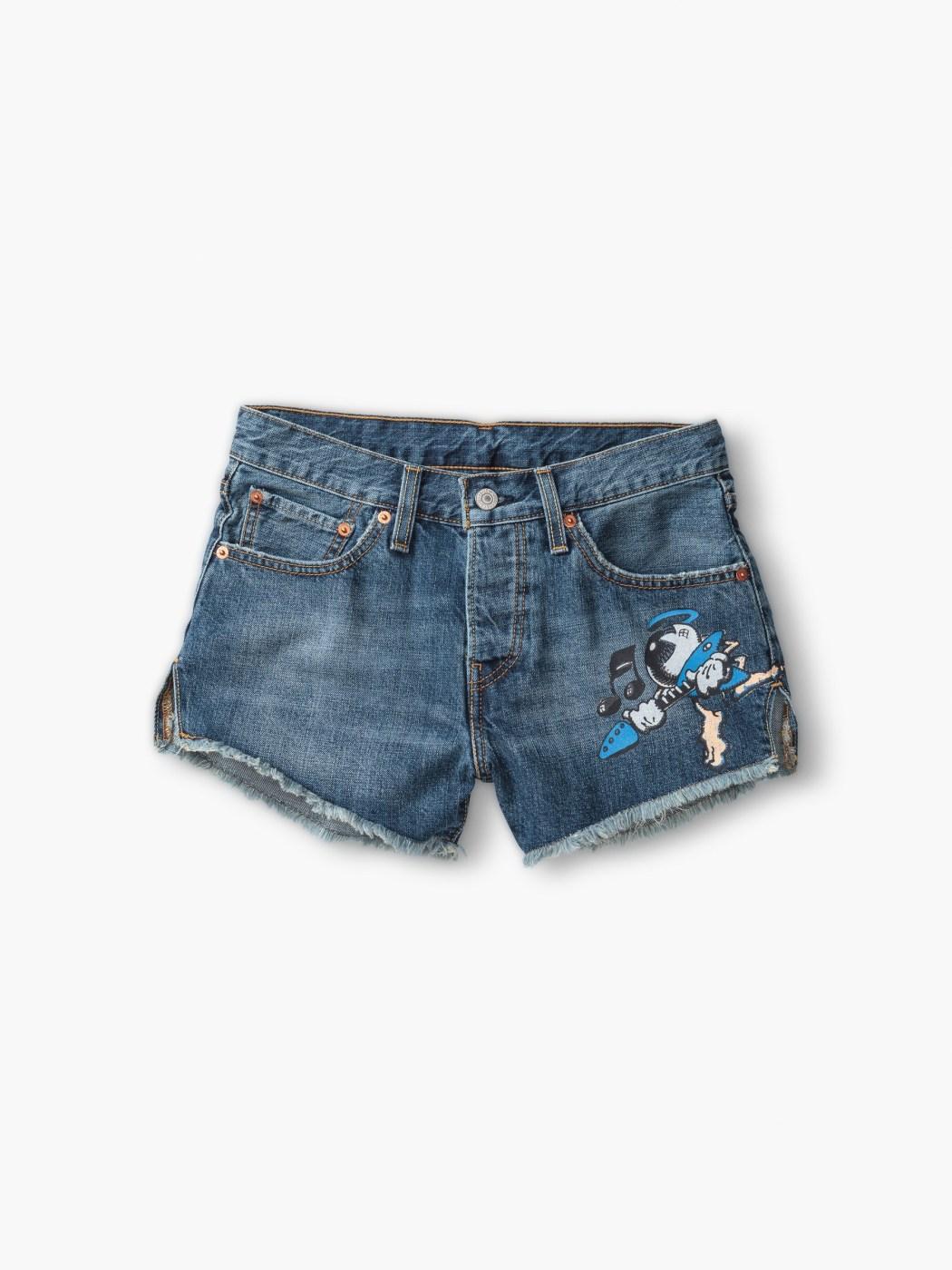 LEVIS X Rick Griffin 聯名款女裝_丹寧短褲