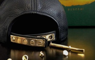 buscemi-leather-and-gold-snapback-1