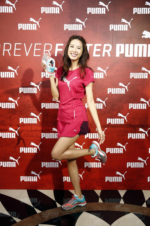 運動甜心林可彤俏麗出席PUMA Forever Faster極限塗鴉記者會(圖由PUMA提供)