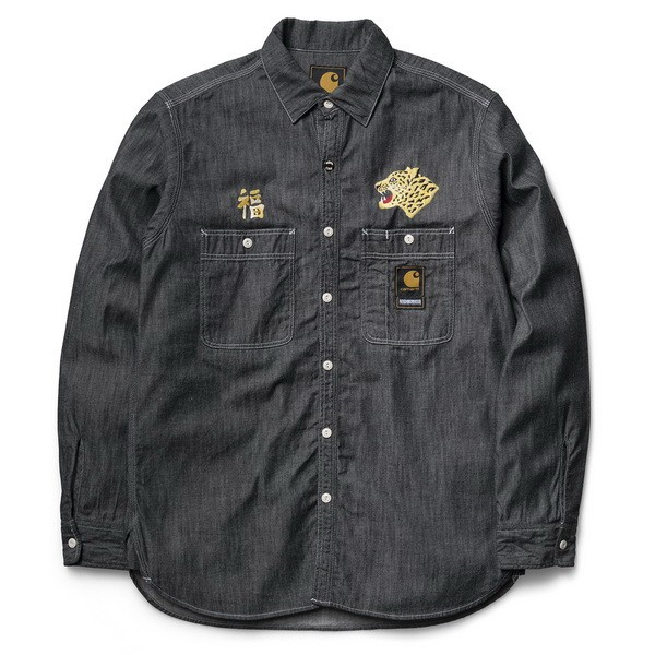 NHCH L_S CHAMBRAY SHIRT-black-01