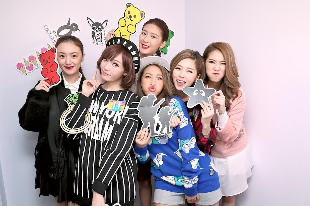 Super Girls與同門師妹(SEO及余香凝)於秋冬時尚嘉年華玩得盡興