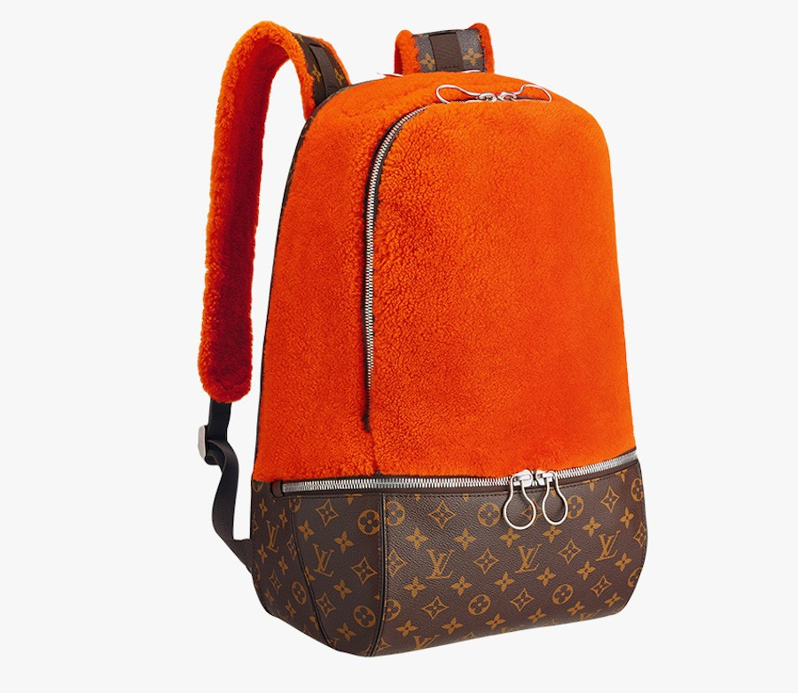 Louis-Vuitton-Marc-Newson-Fleece-Backpack-Orange
