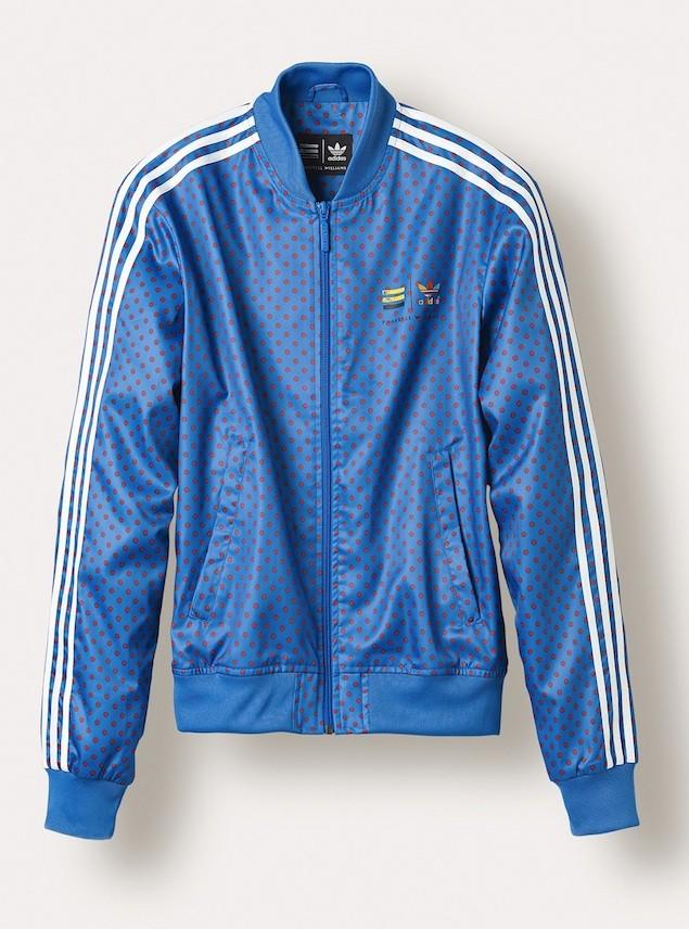 """adidas Originals=Pharrell Williams""""Polka Dot"""" Superstar Track Jackets NTD 4690 (Blue)"""